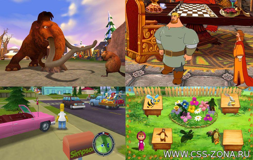 Компьютерные игры по мотивам мультфильмов